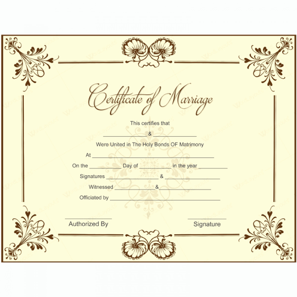 Marriage Certificate Template Microsoft Word Awesome Blank Marriage Certificate Template for Microsoft Word Printablemarriagecertificate Wedding