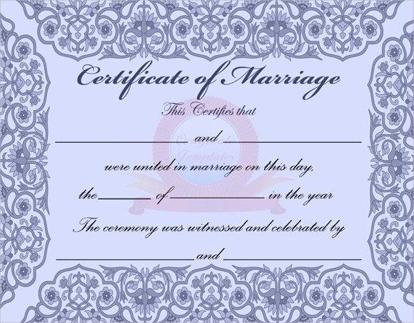 Marriage Certificate Template Microsoft Word Lovely Sample Marriage Certificate Template 6 Documents In Pdf Word