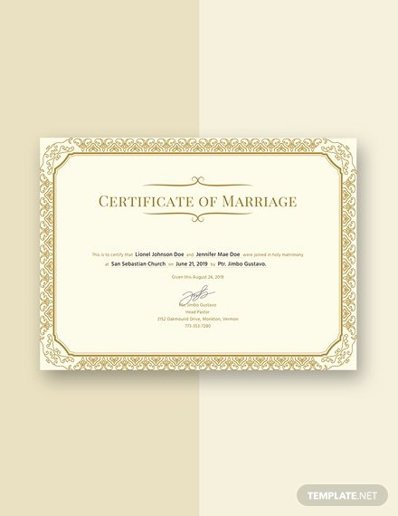 Marriage Certificate Template Microsoft Word New Free Marriage Certificate Template Download 232 Certificates In Psd Illustrator Indesign