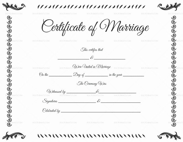 Marriage Certificate Template Microsoft Word New Marriage Certificate Template 22 Editable for Word & Pdf format