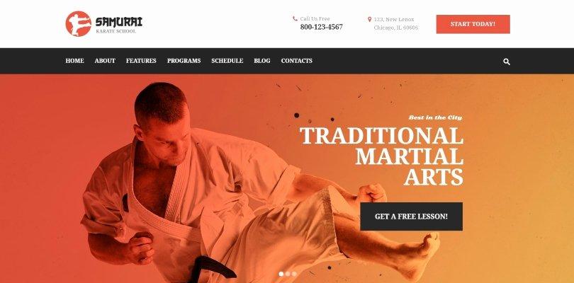 Martial Arts Wordpress theme Best Of Best Premium Wordpress themes for Martial Arts Clubs and Schools