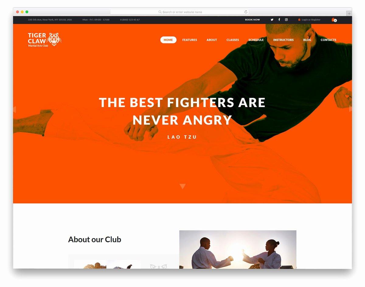 Martial Arts Wordpress theme Fresh 18 Smart Martial Arts Wordpress themes to Get Your Classes Filled