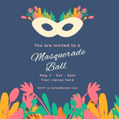 Masquerade Ball Invitations Free Templates Beautiful Design A Masquerade Party Invitation From Our Templates