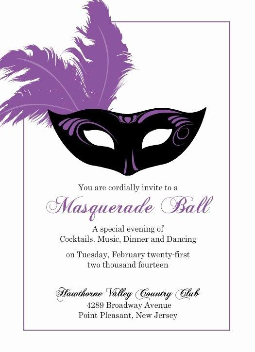 Masquerade Ball Invitations Free Templates Inspirational Flashy Purple Mask Mardi Gras Invitation by Purpletrail Weddings Pinterest