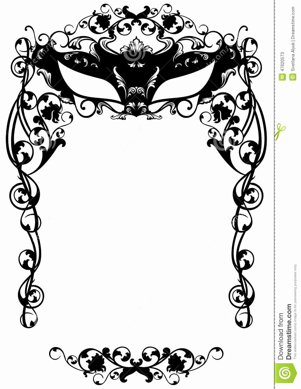 Masquerade Ball Invitations Free Templates Inspirational Masked Ball Invitation Stock Vector Illustration Of Floral