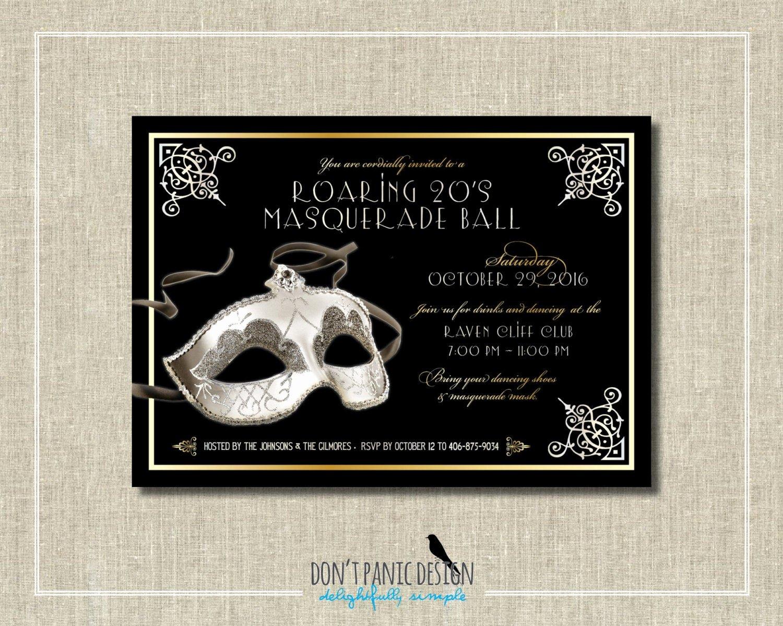 Masquerade Ball Invitations Free Templates Inspirational Printable Masquerade Ball Invitation Elegant Silver