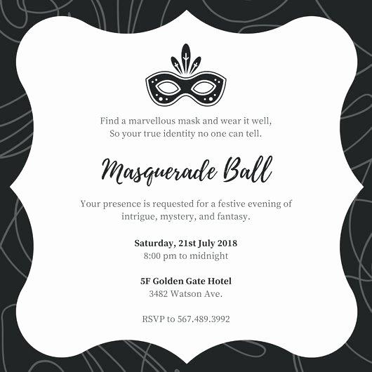 Masquerade Ball Invitations Free Templates Luxury Blank Masquerade Invitations – Shukyakumaster