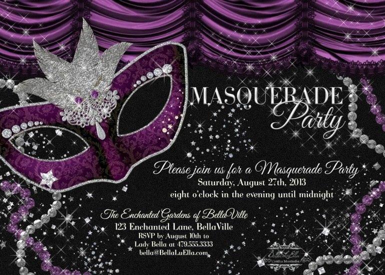 Masquerade Ball Invitations Free Templates New Free Masquerade Party Invitation Templates Masquerade Birthday Ball
