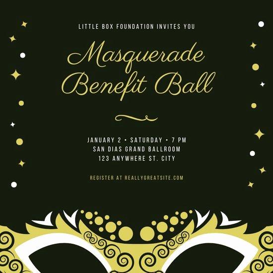 Masquerade Ball Invitations Free Templates Unique Customize 107 Masquerade Invitation Templates Online Canva