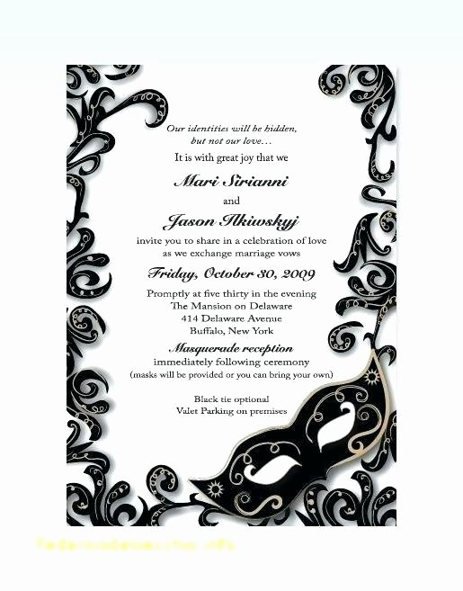masquerade ball party invitations wording
