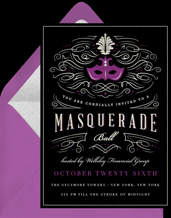 Masquerade Ball Invitations Wording Best Of Masquerade Party Invitations