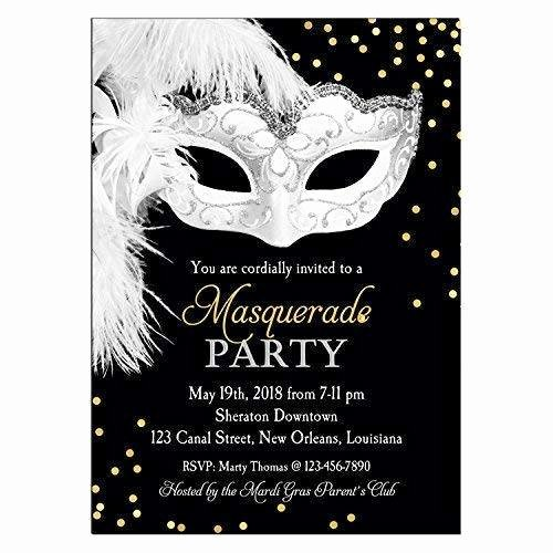 Masquerade Ball Invitations Wording Elegant Amazon Masquerade Invitation Any Wording Carnival