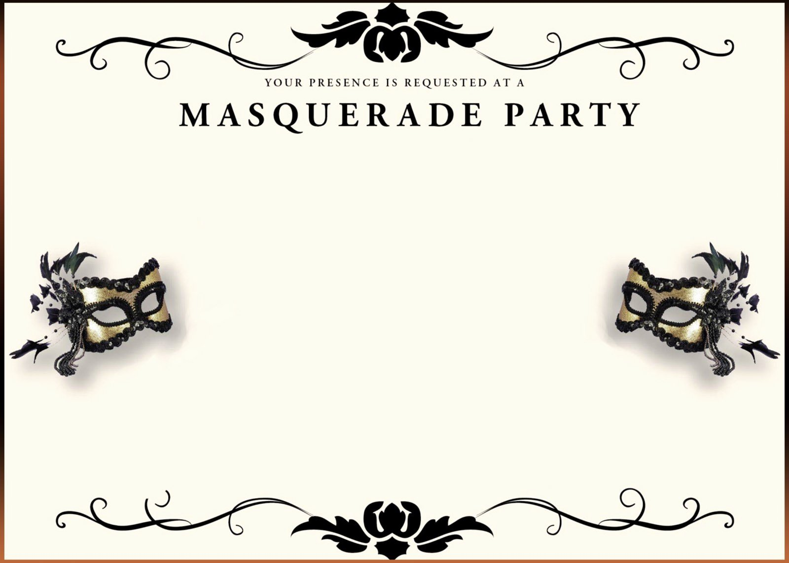 Masquerade Ball Invitations Wording Elegant Free Printable Masquerade Invitation Templates