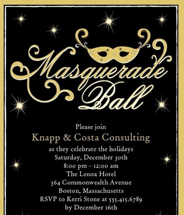 Masquerade Ball Invitations Wording Fresh 20 Masquerade Invitation Templates Word Psd Ai Eps