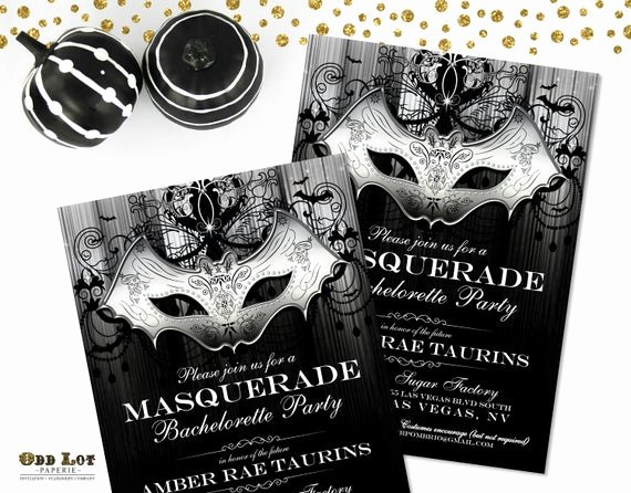 Masquerade Ball Invitations Wording Fresh Masquerade Party Invitation Halloween Party Invite Gothic Bat