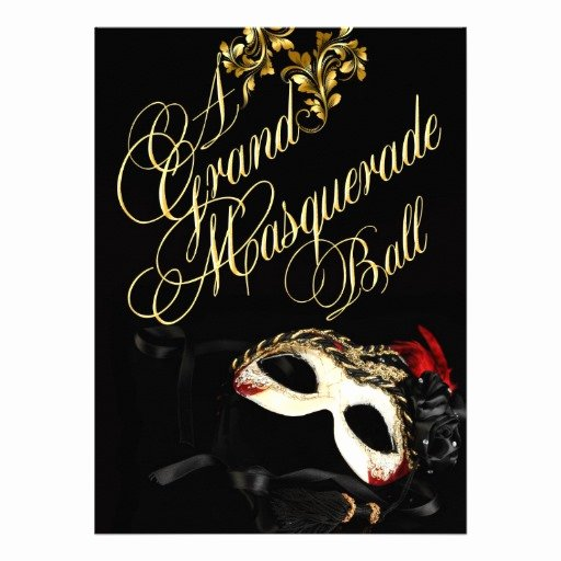 "Masquerade Ball Invite Wording Beautiful Masquerade Ball Invitation 5 5"" X 7 5"" Invitation Card"