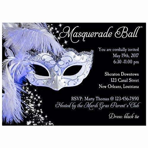 Masquerade Ball Invite Wording Elegant Amazon Masquerade Invitation Any Wording Carnival Masquerade Ball Mardi Gras Party