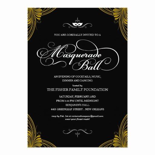 Masquerade Ball Invite Wording Elegant formal Masquerade Ball Invitations