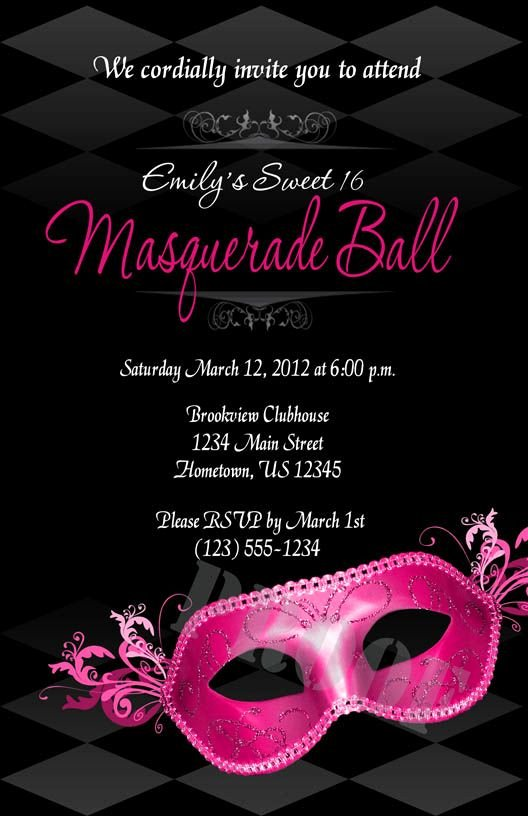 Masquerade Ball Invite Wording Fresh 149 Best Images About Ideas for A Sweet 16 Masquerade Party On Pinterest
