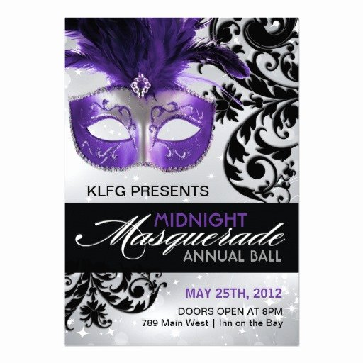 "Masquerade Ball Invite Wording Luxury Masquerade Ball Invitation 5"" X 7"" Invitation Card"