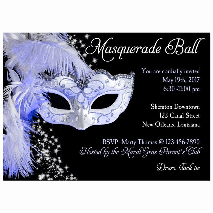 Masquerade Ball Invite Wording Luxury Masquerade Invitation Printable or Printed with Free Shipping
