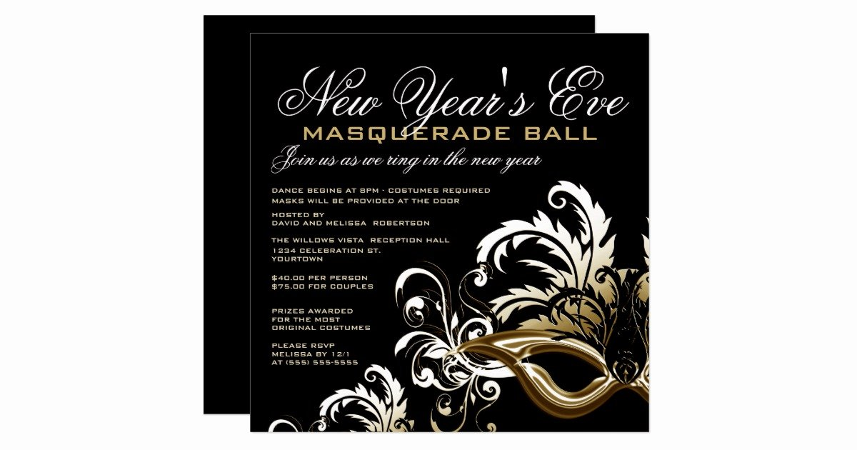 Masquerade Ball Invite Wording Luxury New Years Eve Masquerade Ball Invitations