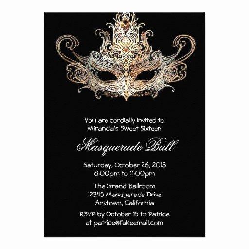 Masquerade Ball Invite Wording New Custom Sweet Sixteen Masquerade Ball Invitations