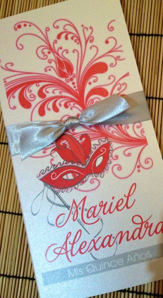Masquerade Invitations for Sweet 16 Awesome Sweet Sixteen Masquerade Invitation Quinceanera by Anaderoux