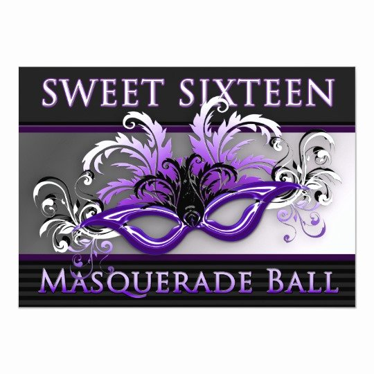 Masquerade Invitations for Sweet 16 Beautiful Sweet Sixteen Masquerade Ball Invitations