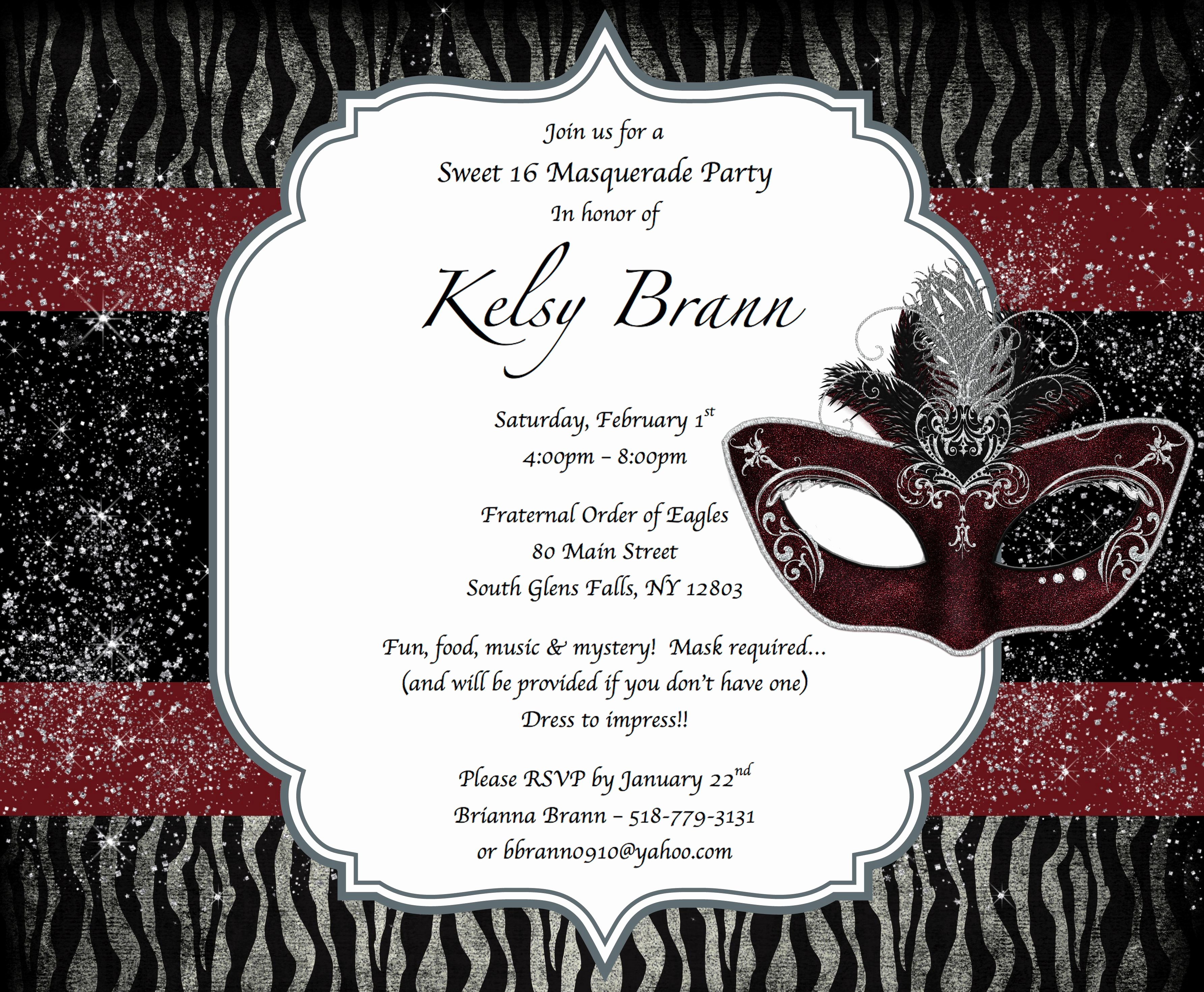 Masquerade Invitations for Sweet 16 Best Of Sweet 16 Masquerade Party Invitations