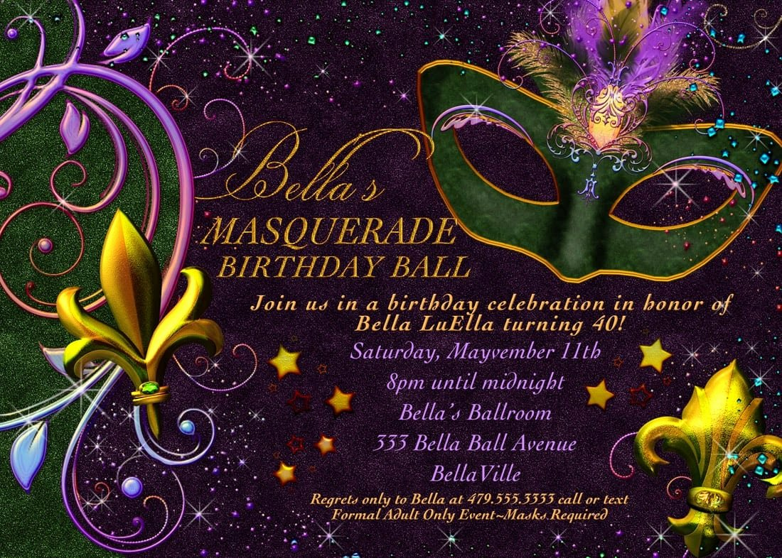 Masquerade Invitations Template Free Awesome Free Printable Mardi Gras Invitation