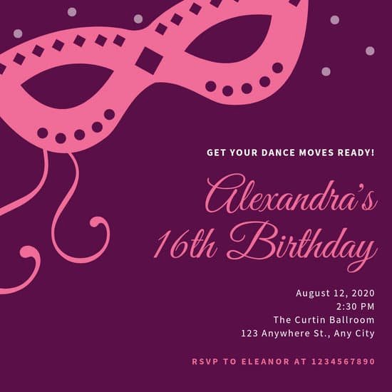 Masquerade Invitations Template Free Beautiful Customize 107 Masquerade Invitation Templates Online Canva
