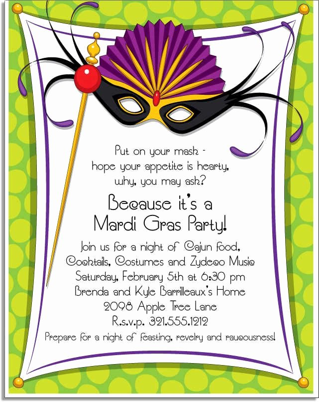 Masquerade Invitations Template Free Beautiful Mardi Gras Invitation Wording