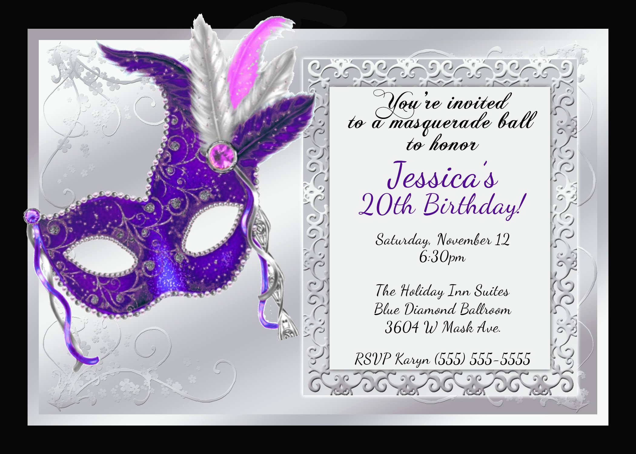 Masquerade Invitations Template Free Fresh Mardi Gras and Masquerade Birthday Invitations