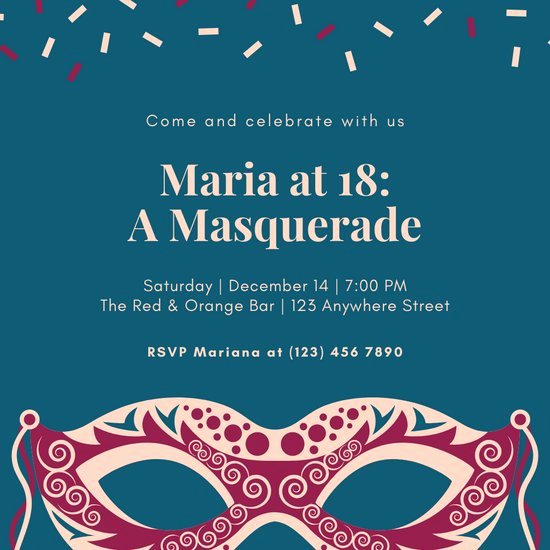 Masquerade Invitations Template Free Lovely Customize 108 Masquerade Invitation Templates Online Canva