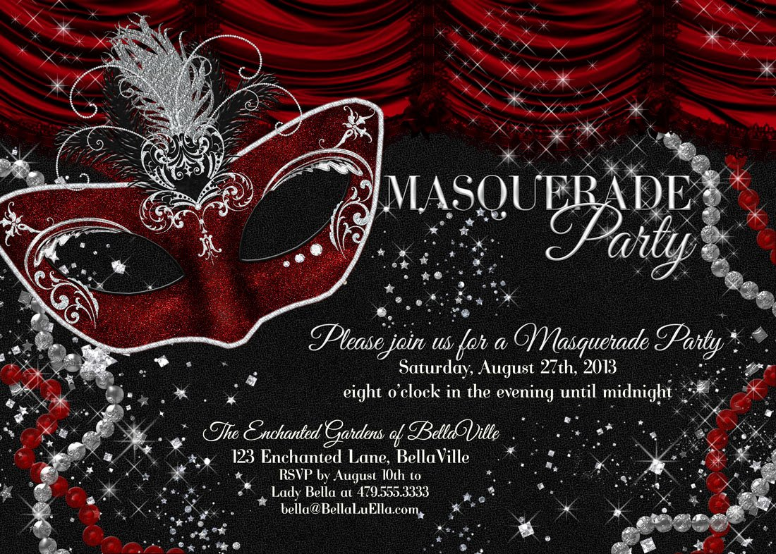 Masquerade Invitations Template Free Lovely Masquerade Party Invitation Mardi Gras Party Party