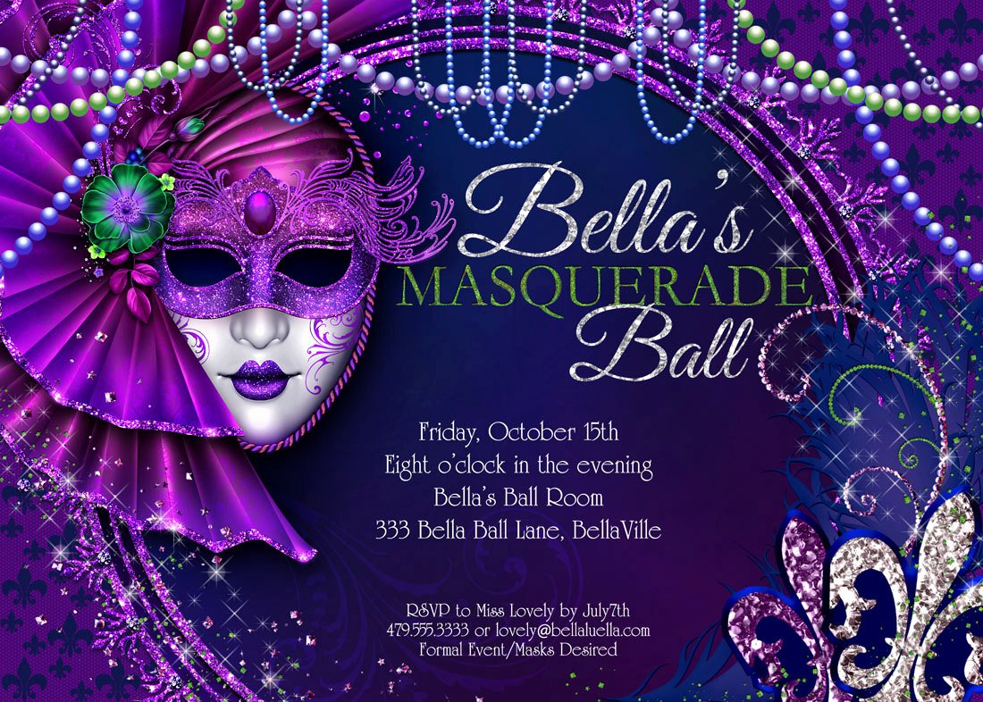 Masquerade Invitations Template Free Luxury Masquerade Party Masquerade Invitation Mardi Gras Party