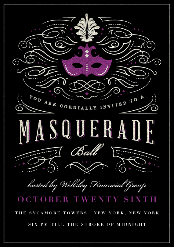 Masquerade Invitations Template Free New Masquerade Ball Invitations In Purple In 2019 Random