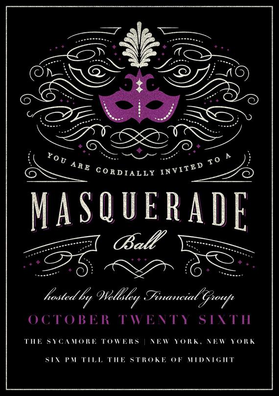 Masquerade Invitations Templates Free Awesome Masquerade Ball Invitations In Purple In 2019 Random