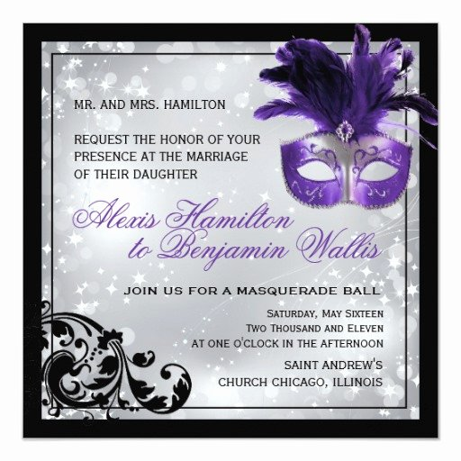 Masquerade Invitations Templates Free Beautiful Masquerade Wedding Invitation