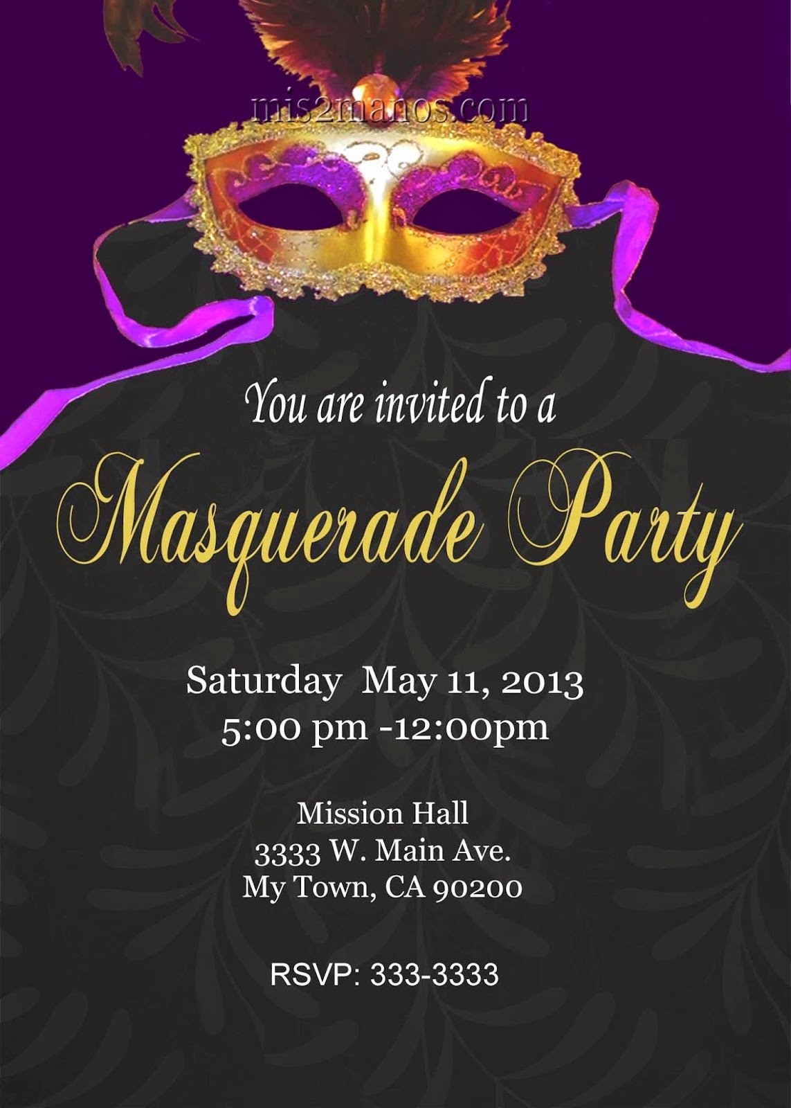 Masquerade Invitations Templates Free Best Of Mis 2 Manos Made by My Hands Mardi Gras Christmas Bridal Shower Baby Shower Holiday Digital