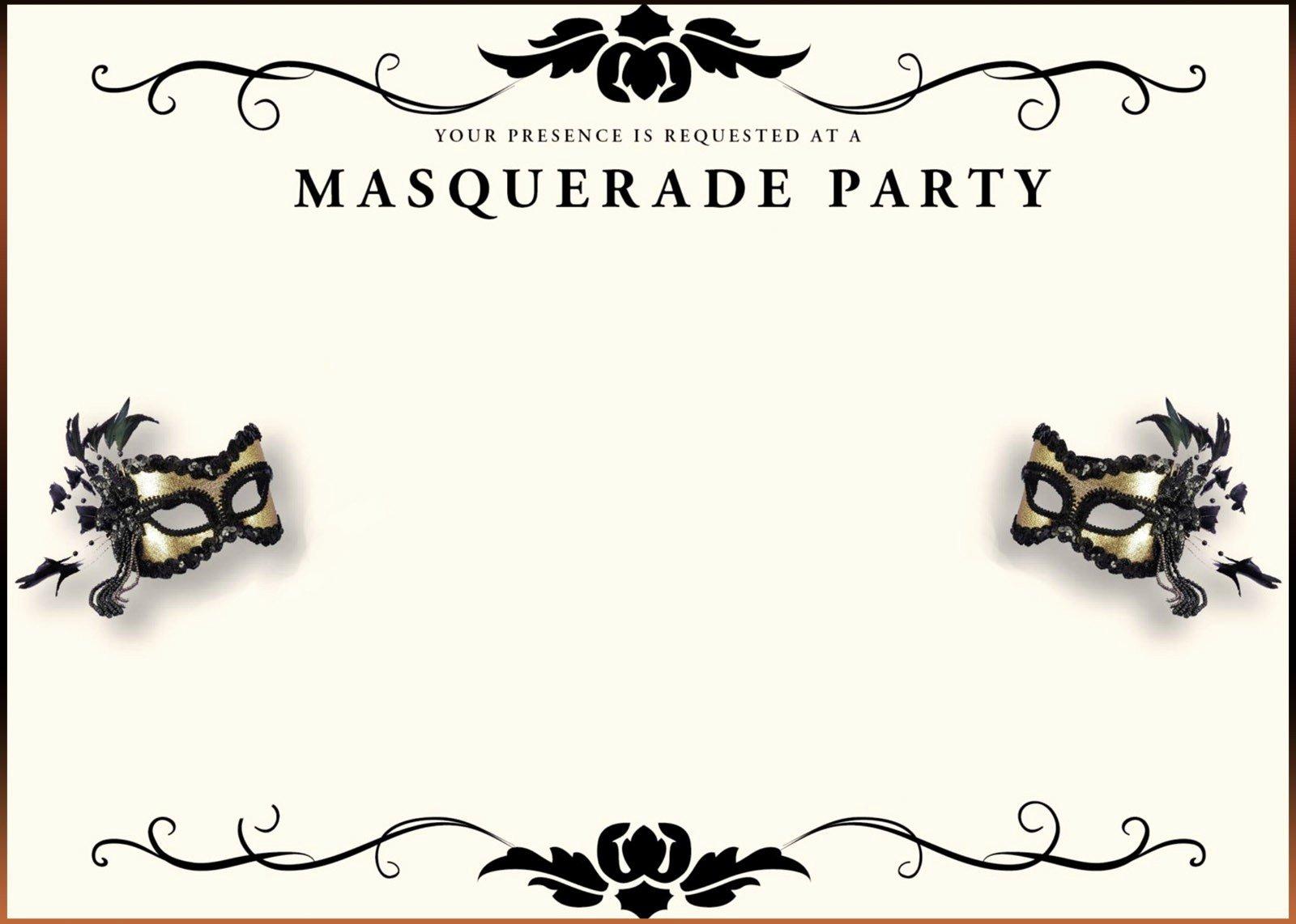 Masquerade Invitations Templates Free Luxury Free Printable Masquerade Invitation Templates
