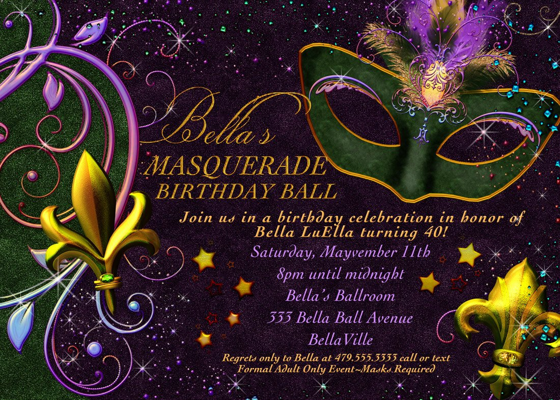 Masquerade Invitations Templates Free New Masquerade Invitation Mardi Gras Invitation Masquerade