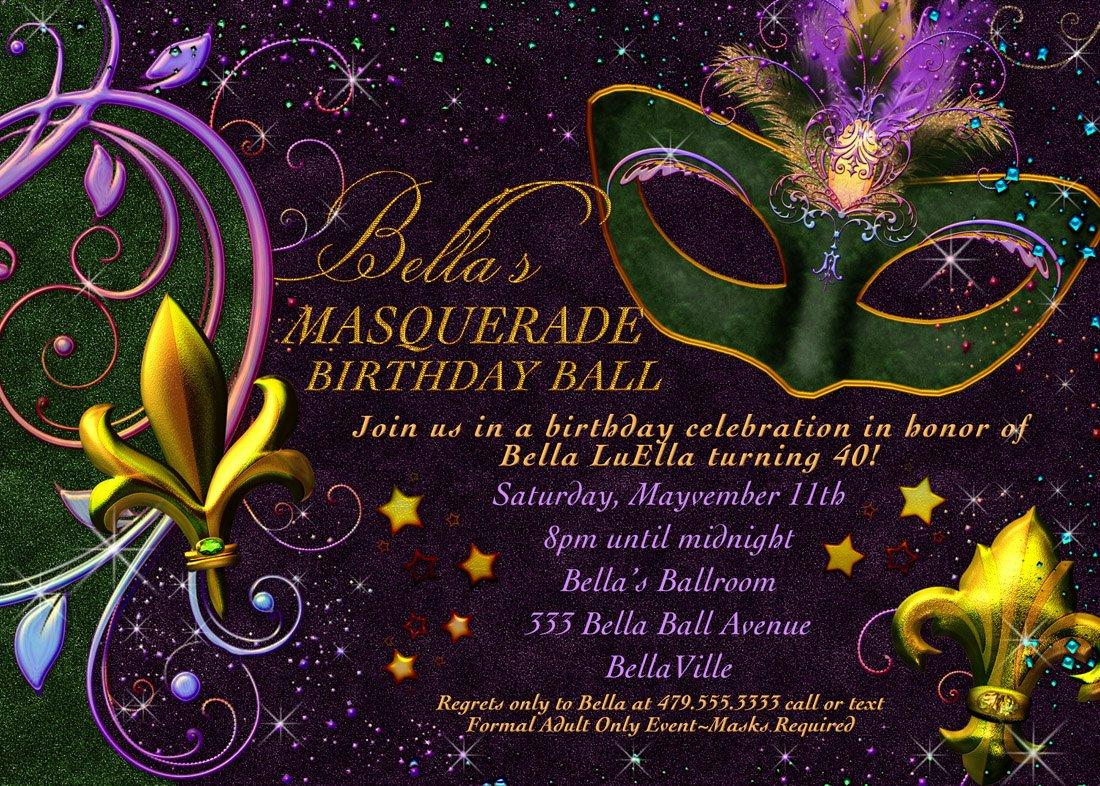 Masquerade Invitations Templates Free New Masquerade Invitation Mardi Gras Invitation Masquerade