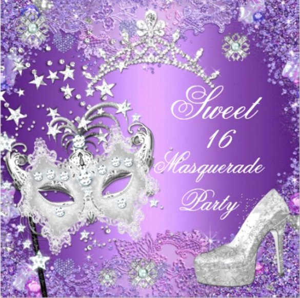 Masquerade Invitations Templates Free Unique Masquerade Ball Sweet 16 Invitations Hw71 – Advancedmassagebysara