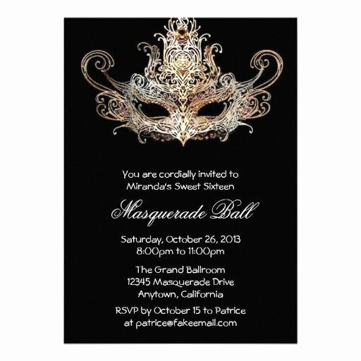 Masquerade Party Invitation Wording Lovely Custom Sweet Sixteen Masquerade Ball Invitations Zazzle Invitations