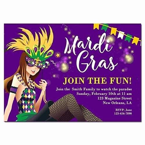 Masquerade Party Invitation Wording Unique Amazon Mardi Gras Invitation Any Hair Color and Wording Carnival Masquerade Mardi Gras