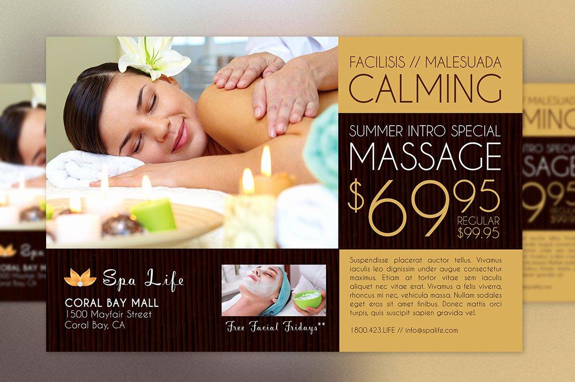 Massage Flyer Template Free Beautiful Spa Massage Flyer Template On Behance