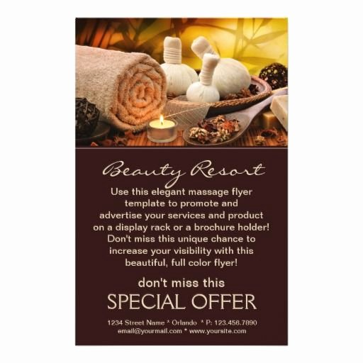 Massage Flyer Template Free Best Of Promotional Flyers for Spa and Massage Salon Spa Massage Salon Zazzle