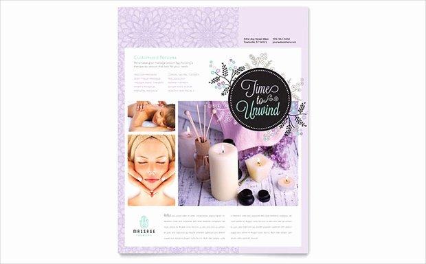 Massage Flyer Template Free Elegant 22 Best Massage Flyer Designs Word Psd Ai Eps Vector formats